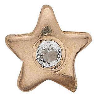 Topaz Star forgyldt 925 sterling sølv  Collect urskive pynt smykke fra Christina Collect